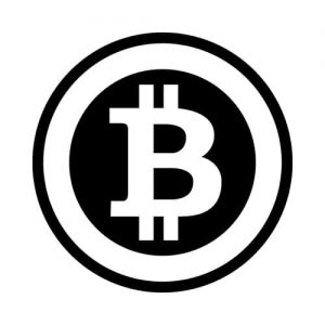 btc logo sticker zwart